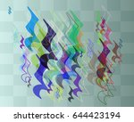 score texture idea   Shutterstock .eps vector #644423194