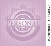 personal badge with pink... | Shutterstock .eps vector #644425624