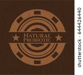 natural probiotic badge with... | Shutterstock .eps vector #644426440