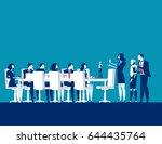 business people meeting.... | Shutterstock .eps vector #644435764