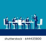 businessman meeting. concept... | Shutterstock .eps vector #644435800