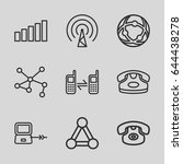 connect icons set. set of 9... | Shutterstock .eps vector #644438278