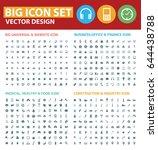 big icon set clean vector | Shutterstock .eps vector #644438788