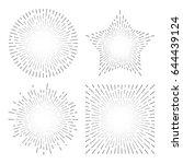 vintage sunburst starburst... | Shutterstock .eps vector #644439124