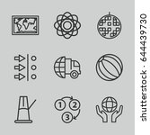sphere icons set. set of 9... | Shutterstock .eps vector #644439730