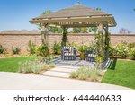 beautiful yard pergola patio... | Shutterstock . vector #644440633