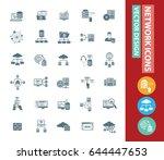 network icon set clean vector | Shutterstock .eps vector #644447653
