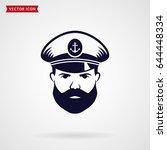 ship's captain icon. vector...   Shutterstock .eps vector #644448334