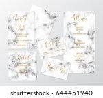 wedding invite design set with... | Shutterstock .eps vector #644451940
