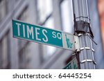 Image of a street sign for Times Square, New York - stock photo