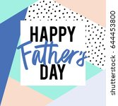 fathers day lettering in vector ...   Shutterstock .eps vector #644453800
