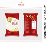 rice food or thai food  package ... | Shutterstock .eps vector #644456824