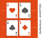 set of playing card suits  ... | Shutterstock .eps vector #644457034