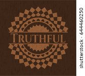 truthful badge with wood... | Shutterstock .eps vector #644460250
