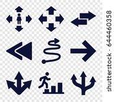 forward icons set. set of 9... | Shutterstock .eps vector #644460358