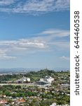 Small photo of AUCKLAND, New Zealand NOVEMBER 29, 2015; An aerial view of One Tree Hill, a volcanic peak with an obelisk to the Maori, designer Richard Atkinson Abbot, unveiled after WWII April 1948. Editorial use