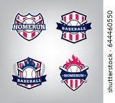vector design set of baseball... | Shutterstock .eps vector #644460550