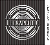 therapeutic silver badge or... | Shutterstock .eps vector #644461954