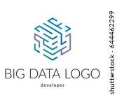 big data company logotype | Shutterstock .eps vector #644462299