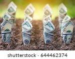 dollar bill plant growth from... | Shutterstock . vector #644462374