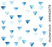 watercolor triangle seamless... | Shutterstock .eps vector #644463478