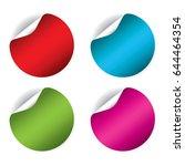 round sticker set isolated on... | Shutterstock .eps vector #644464354