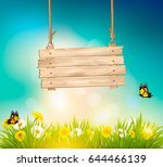 summer nature background with... | Shutterstock .eps vector #644466139