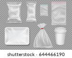 big set of plastic packaging  ... | Shutterstock .eps vector #644466190