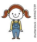 little girl | Shutterstock .eps vector #644467159