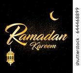 ramadan kareem vector... | Shutterstock .eps vector #644468899