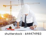 professional engineers with... | Shutterstock . vector #644474983