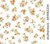 flower illustration pattern | Shutterstock .eps vector #644482234
