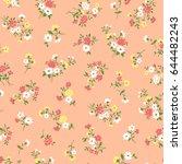 flower illustration pattern | Shutterstock .eps vector #644482243