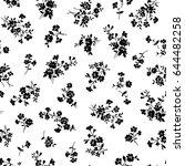 flower illustration pattern | Shutterstock .eps vector #644482258