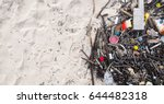 the problem of trash on the... | Shutterstock . vector #644482318