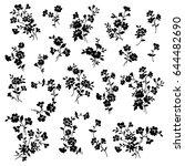 flower illustration material | Shutterstock .eps vector #644482690