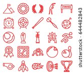 competition icons set. set of... | Shutterstock .eps vector #644482843