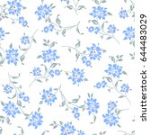 flower illustration pattern | Shutterstock .eps vector #644483029