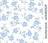 flower illustration pattern | Shutterstock .eps vector #644483029