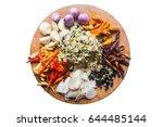 ingredient of thai curry paste... | Shutterstock . vector #644485144
