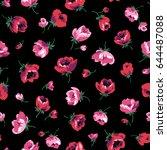 flower illustration pattern | Shutterstock .eps vector #644487088