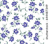 flower illustration pattern | Shutterstock .eps vector #644487349
