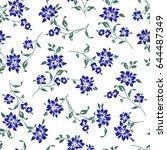 flower illustration pattern | Shutterstock .eps vector #644487349
