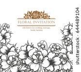 romantic invitation. wedding ... | Shutterstock .eps vector #644489104