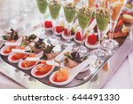 beautifully decorated catering... | Shutterstock . vector #644491330