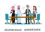 arabic and western business... | Shutterstock .eps vector #644492494