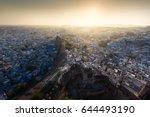 sunset at jodhpur  rajasthan ...   Shutterstock . vector #644493190