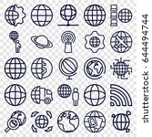 globe icons set. set of 25... | Shutterstock .eps vector #644494744