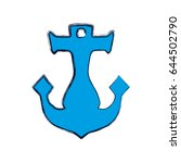 anchor nautical object | Shutterstock .eps vector #644502790