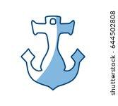 anchor nautical object | Shutterstock .eps vector #644502808